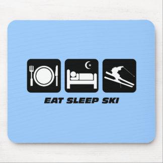 eat sleep ski mouse pad