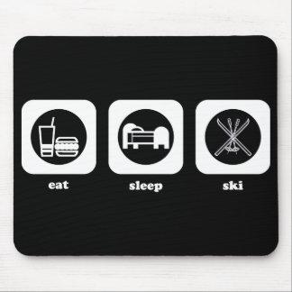 Eat. Sleep. Ski. Mousepad