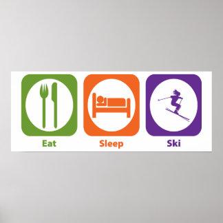 Eat Sleep Ski Poster