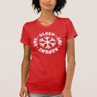 Eat Sleep Ski Repeat (white graphic) T-Shirt