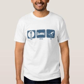 eat, sleep, ski t shirts