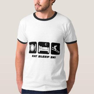 eat sleep ski tee shirt
