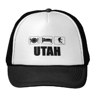 Eat sleep ski Utah Cap
