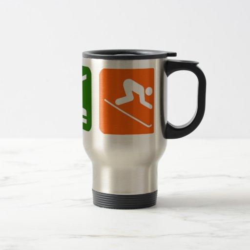 Eat Sleep Skiing Mug