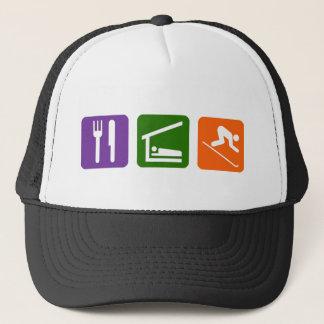 Eat Sleep Skiing Trucker Hat