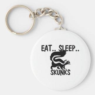 Eat Sleep SKUNKS Basic Round Button Key Ring