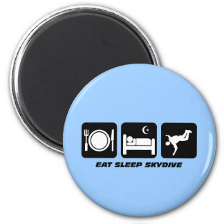 eat sleep skydive 6 cm round magnet
