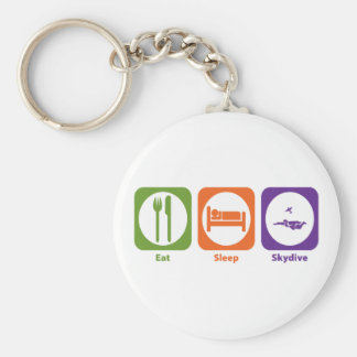 Eat Sleep Skydive Basic Round Button Key Ring
