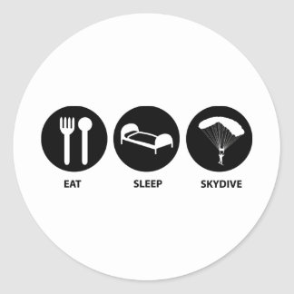 Eat Sleep SkyDive Classic Round Sticker