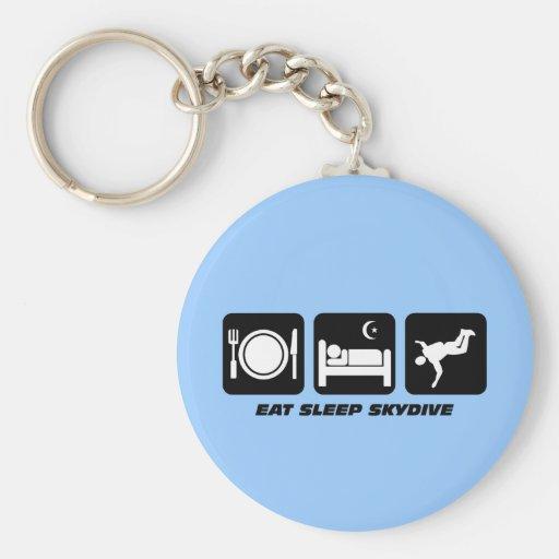 eat sleep skydive key chains
