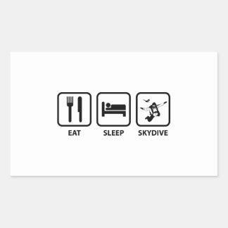 Eat Sleep Skydive Rectangular Sticker