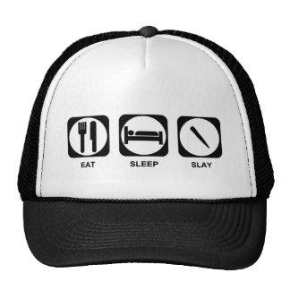 Eat Sleep Slay Color Customizable Cap