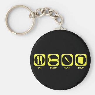 Eat Sleep Slay Shop Custom 2 Basic Round Button Key Ring