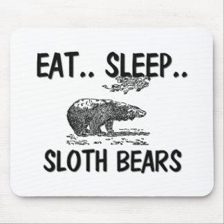 Eat Sleep SLOTH BEARS Mouse Mat
