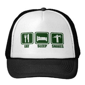 Eat Sleep Snake Handling Repeat T Shirt Cap