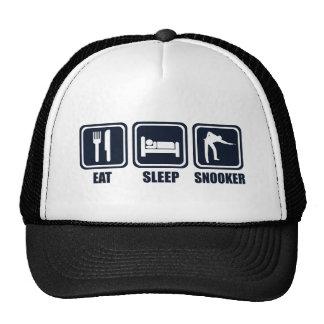 Eat Sleep Snooker Repeat T Shirt Cap