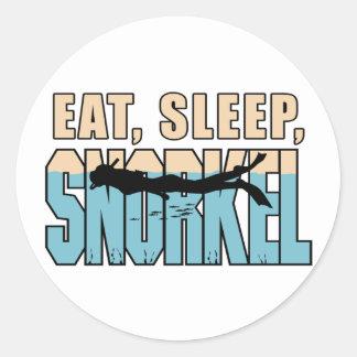 Eat Sleep Snorkle Round Sticker