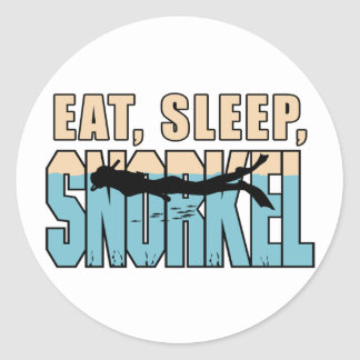 Eat Sleep Snorkle Sticker
