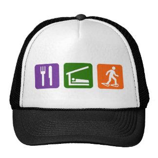 Eat Sleep Snow Shoeing Mesh Hat