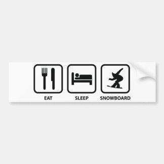 Eat Sleep Snowboard Bumper Sticker