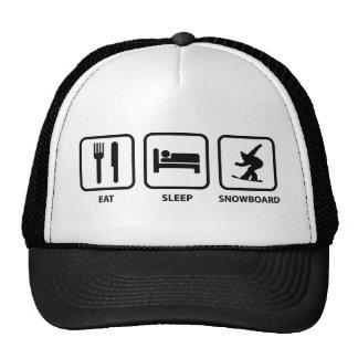Eat Sleep Snowboard Cap