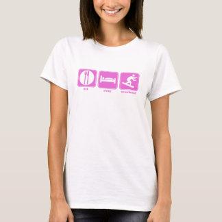 eat sleep snowboard pink T-Shirt
