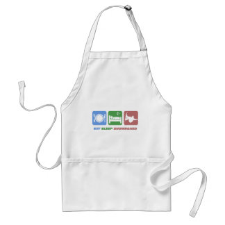 eat sleep snowboarding standard apron