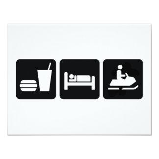 Eat Sleep Snowmobile Card