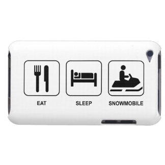 Eat Sleep Snowmobile iPod Case-Mate Case