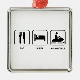 Eat Sleep Snowmobile Christmas Ornament