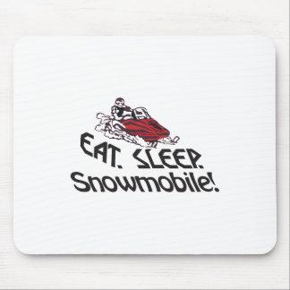 Eat Sleep Snowmobile Mouse Pad