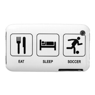 Eat Sleep Soccer iPhone 3 Cases