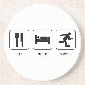 Eat Sleep Soccer Coaster