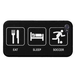 Eat Sleep Soccer iPhone 4 Cases