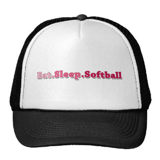 Eat Sleep Softball Mesh Hat