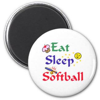 Eat Sleep Softball Magnet