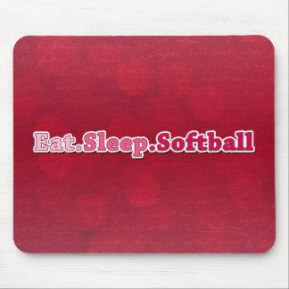 Eat Sleep Softball Mouse Pad