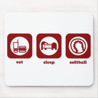 Eat. Sleep. Softball. Mousepad