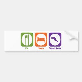 Eat Sleep Speed Skate Bumper Sticker