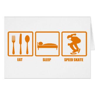Eat Sleep Speed Skate Greeting Cards