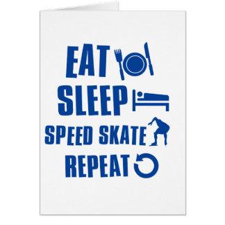 Eat sleep Speed Skate Cards