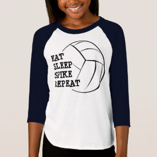 Eat Sleep Spike Repeat Volleyball Raglan Shirt