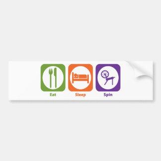 Eat Sleep Spin Bumper Sticker