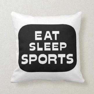 Eat Sleep Sports Throw Pillow