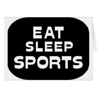 Eat Sleep Sports Greeting Card