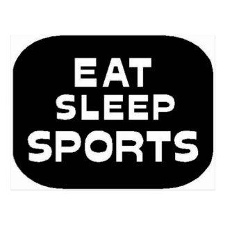 Eat Sleep Sports Postcard