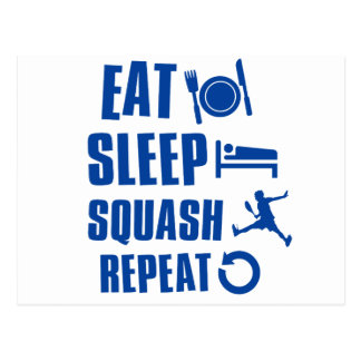 Eat sleep Squash Postcard