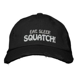 Eat. Sleep. SQUATCH! Embroidered Baseball Cap