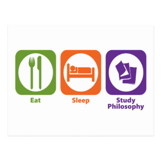 Eat Sleep Study Philosophy Postcard