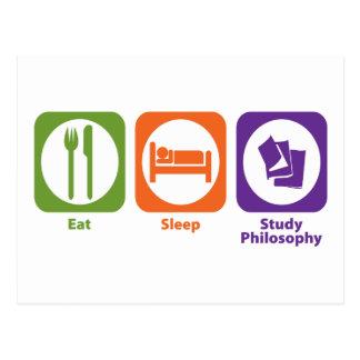 Eat Sleep Study Philosophy Postcard